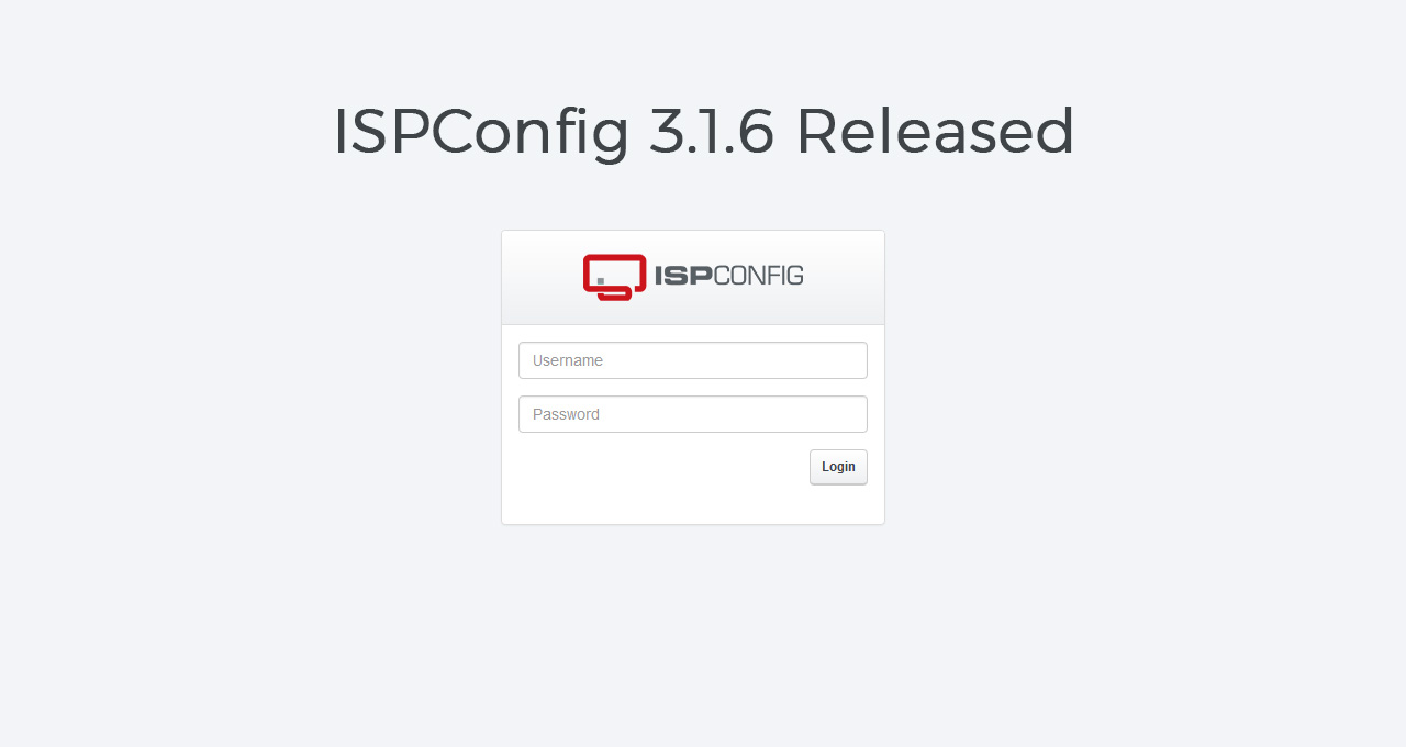 ISPConfig 3.1.6 Released